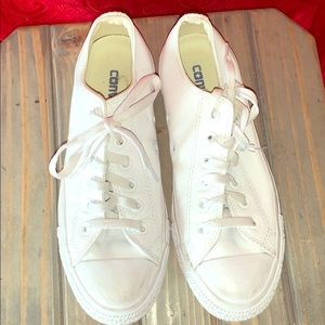 White leather All Star converse